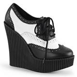Kunstleer CREEPER-307 wedge creepers schoenen sleehakken