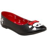 Kunstleer PUNK-14 dames ballerinas schoenen
