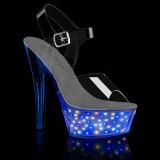 LED light platform 15 cm ECHOLITE-208 exotic pole dance high heel sandals