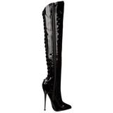 Lak 16 cm DAGGER-3060 overknee laarzen met stiletto hak
