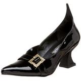 Lak 6,5 cm SALEM-06 heks pumps schoenen plat