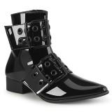 Lak WARLOCK-55 boots met puntneus - heren winklepicker boots 2 gespen