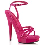 Lak pink hakken 15 cm SULTRY-638 fabulicious sandalen hoge hakken