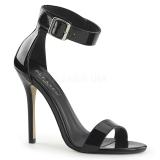 Lakleer 13 cm Pleaser AMUSE-10 sandalen met naaldhak