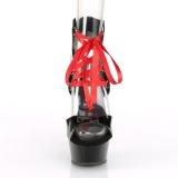 Lakleer 15 cm DELIGHT-600-14FH pleaser sandalen met corset plateau