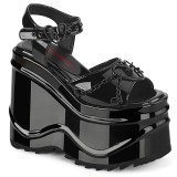 Lakleer 15 cm Demonia WAVE-09 lolita plateau wedge sandalen sleehak