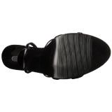 Lakleer 15 cm Devious DOMINA-108 sandalen met naaldhak
