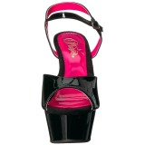 Lakleer 15 cm KISS-209TT Sandalen met Neon Plateau