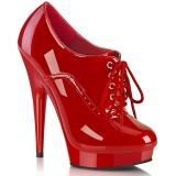Lakleer 15 cm SULTRY-660 plateau booties high heels rood