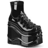 Lakleer 15 cm WAVE-110 plateau wedge ankle booties