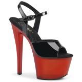 Lakleer 18 cm SKY-309T pleaser sandalen met plateau