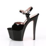 Lakleer 18 cm SKY-309TT pleaser sandalen met goud zolen