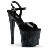 Lakleer 19 cm Pleaser TABOO-709MG glitter schoenen met hakken
