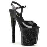 Lakleer 20 cm Pleaser XTREME-809MG glitter schoenen met hakken