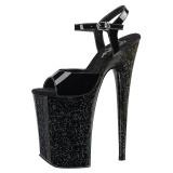 Lakleer 23 cm Pleaser INFINITY-909MG glitter schoenen met hakken