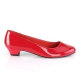Lakleer 3 cm GWEN-01 pumps voor mannen en drag queens in rood