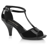 Lakleer 8 cm BELLE-371 high heels schoenen voor travestie
