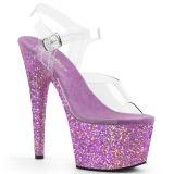 Lavendel glitter 18 cm Pleaser ADORE-708LG paaldans schoenen met hoge hakken