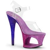 Lavendel glitter 18 cm Pleaser MOON-708OMBRE paaldans schoenen met hoge hakken