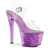 Lavendel glitter 18 cm Pleaser SKY-308LG paaldans schoenen met hoge hakken