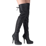 Leather 13,5 cm INDULGE-3011 Platform Thigh High Boots