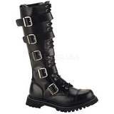 Leather RIOT-20 Punk Boots Gothic Mens Boots