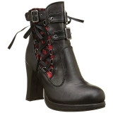 Leatherette 10 cm DEMONIA CRYPTO-51 platform womens ankle boots