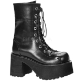 Leatherette 10 cm Demonia RANGER-301 gothic platform ankle boots