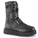 Leatherette 3,5 cm VALOR-210 Platform Mens Ankle Boots