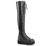 Leatherette 5 cm EMILY-375 Platform Thigh High Boots