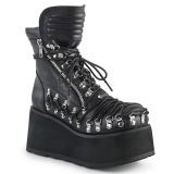 Leatherette 8,5 cm DEMONIA CLASH-150 goth ankle boots