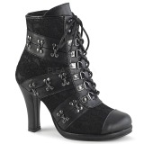 Leatherette 9,5 cm GLAM-202 Lace Up Ankle Calf Women Boots