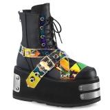 Leatherette 9 cm DAMNED-116 demonia ankle boots platform