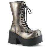 Leatherette 9 cm Demonia PLATOON-202 gothic platform ankle boots