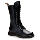 Leatherette Black DEFIANT-300 Mens Lace Up Boots