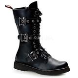 Leatherette Black DEFIANT-303 Mens Lace Up Boots