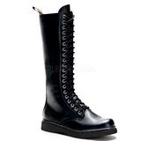 Leatherette Black DEFIANT-400 Mens Lace Up Boots