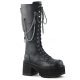 Leatherette Demonia RANGER-303 Mens Lace Up Boots