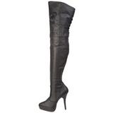Leder 13,5 cm INDULGE-3011 overknee laarzen met plateauzool