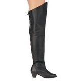 Leer 6,5 cm MAIDEN-8828 overknee laarzen met stiletto hak