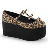 Leopard canvas 8 cm CLICK-08 lolita shoes gothic platform shoes