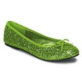 Limoen glitter STAR-16G dames ballerinas schoenen