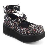 Linnen stoffen 6 cm SPRITE-02 lolita schoenen met plateau