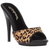 Luipaard 13 cm Fabulicious POISE-501FUR dames slippers met hak