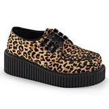 Luipaard 5 cm CREEPER-112 creepers schoenen met plateauzolen