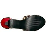 Luipaard Kunstleer 7,5 cm DIVINE-435 grote maten sandalen dames