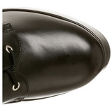 Mat 13 cm ELECTRA-2042 plateau laarzen dames met gespen