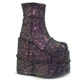 Multi Glitter 18 cm STACK-201G Heren Plateau Enkellaarzen
