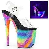 Multicolored 20 cm FLAMINGO-808GXY High Heeled Sandal Neon Platform
