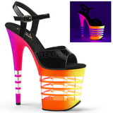 Multicolored Neon 20 cm Pleaser FLAMINGO-809UVLN Platform High Heels